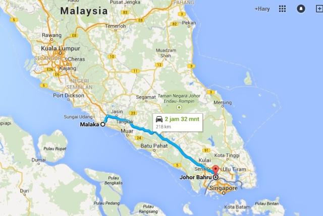 Rute JB - Melaka